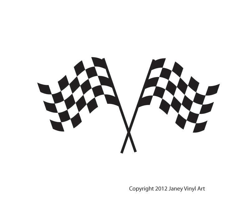 Checkered Race Flags Decals Boys Room Decor Race Car