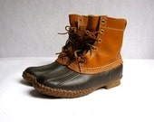Vintage LL Bean Tall Brown Duck Boots - Mens Size 8 M