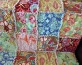 SALE  Amy Butler Love Baby Rag Quilt