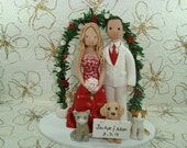 Personalized Handmade Arch Wedding Cake Topper