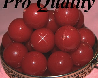 Vintage 10 Cherry Red Lucite 21MM Beads ER2