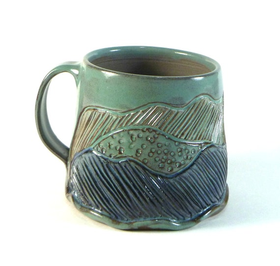 Large Asheville Mountains Pottery Mug