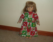 Puppy Dogs Christmas Nightgown -- Fits American Girl AND Bitty Baby