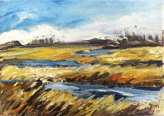 Low Country Marsh-1 Original Oil Painting small
