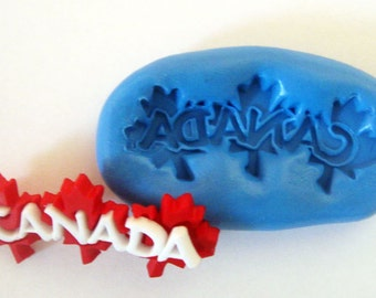 Canada Maple leaf Flexible Silicone Push Mold for Polymer clay, Resin,Wax,Miniature Food,Sweets,plaster