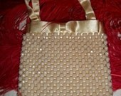 Vintage 40s Beaded Purse by Magid Made in Japan