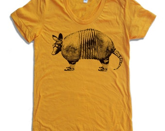 Womens ARMADILLO  T-Shirt american apparel S M L XL (16 Colors Available)
