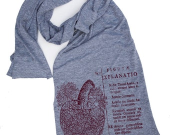 Scarf Anatomical HEART Collection Sheer Jersey american apparel (4 Color options)