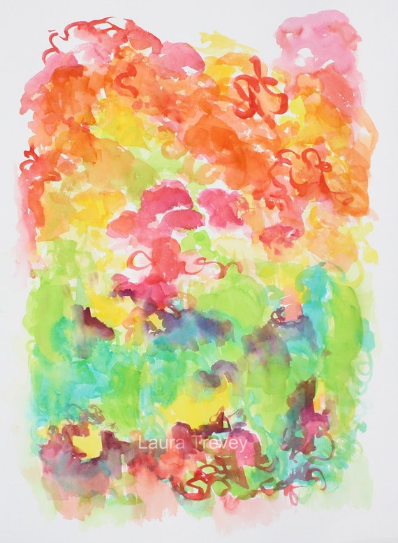 Garden Party III Abstract Painting