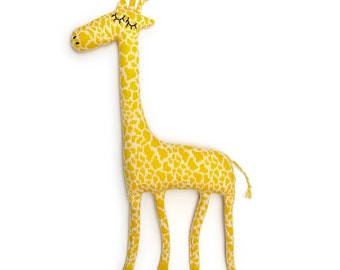 Gerald Giraffe Knitted Lambswool Soft Toy Plush - Made to order