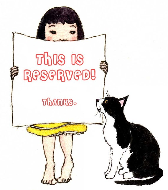 Reserved for M J - Custom Owl and Pussycat Wedding Invite Design