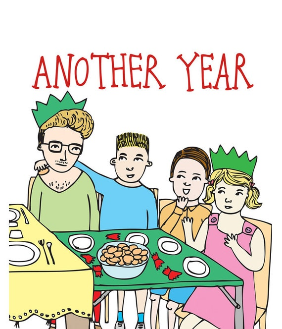 Christmas Card - Another Year, Another Christmas Stuck On The Kids' Table
