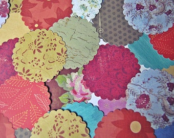 Scalloped Paper Posies - Fifty of Them