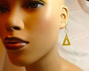 Pyramid One Inch Earrings