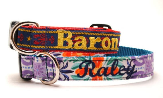 ANY Design NAME Personalized Dog Collar