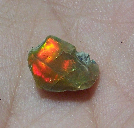 Ethiopian Welo Opal - Opal in Matrix  - raw rough stone - wire wrap or cabbing material - natural genuine specimen - - coyoterainbow