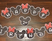 Mickey and Minnie Mouse Birthday Party Banner by The Birthday House