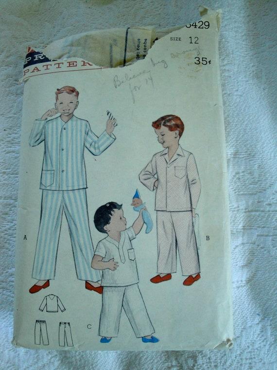 Vintage Butterick Pattern 6429 Size 12