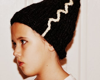 Bride of Frankenstein Beanie Adult Sizes, Bride of Frankenstein Hat