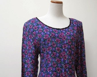 Jonathan Martin rayon flower print dress from the 90s