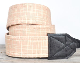MADE TO ORDER - Camera Strap - Peachy Plaid