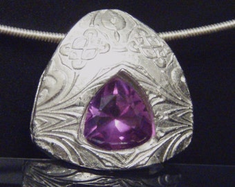 Amethyst Trillion Necklace