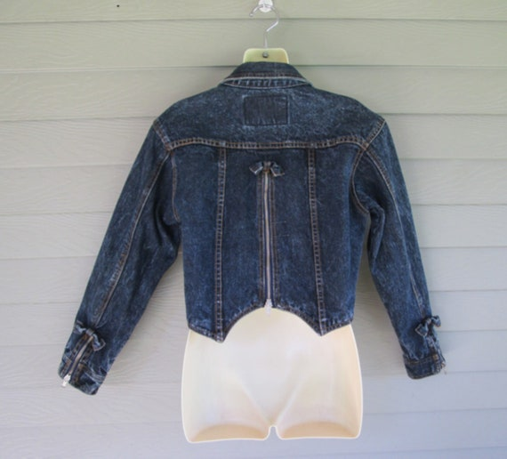 Zipper and Bows Jean Jacket