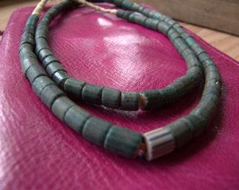 Dark green watermelon Trade Beads
