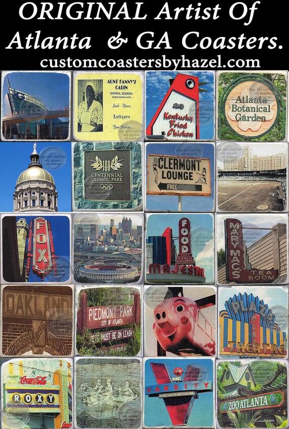 4 Atlanta Marble Coasters, Botanical Garden, Centennial Park, Oakland Cemetery, Zoo atlanta and more YOU PICK 4