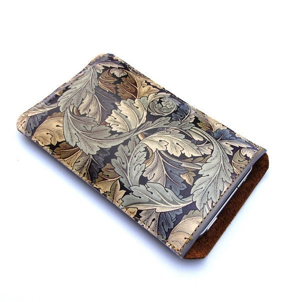 Leather iPhone case (All) iTouch (All) sleeve case - William Morris design