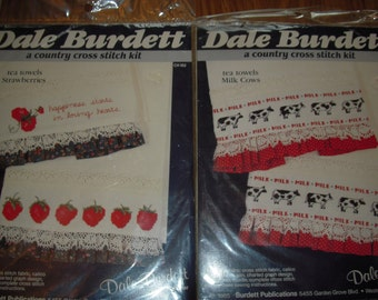 A Counted Cross Stitch Kit - Tea Towels