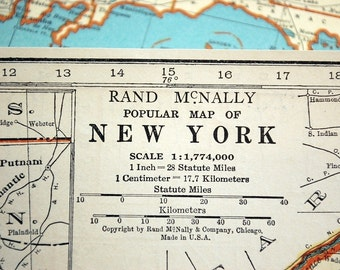 1937 Vintage Map of New York - New York Vintage Map - Vintage New York Map