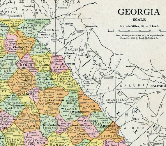 buy rand mcnally maps with 1913 Antique Map Of Georgia on Oklahoma map likewise Timelines as well Albertaphysicalmap additionally Arizona Map besides Small Australia Map Of Australia Old.