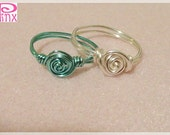 Introductory Price Set of  Simplicity Rose Custom Sized Rings by Pinx Jewelry