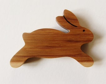 Wooden Bunny Teether Natural Rabbit Teething Toy heirloom