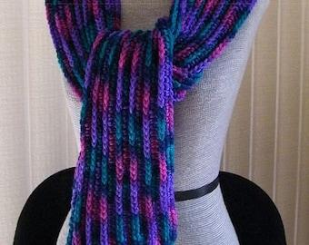 310 - Gemstone Scarf/RedHeart Yarns/acrylic yarn/soft and warm
