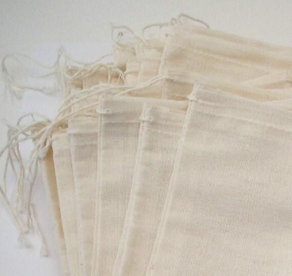 Muslin Bags - 20 pack 5 X 7