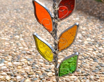 Fall Branch Stained Glass Suncatcher