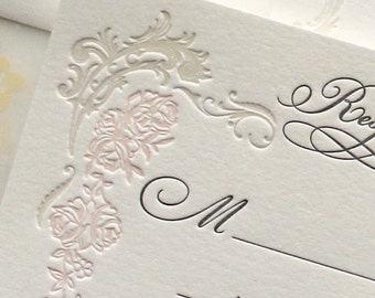 Letterpress Wedding Invitation - Versailles -  SAMPLE