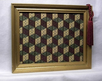 Christmas Tumble Blocks of Ribbon in the Victorian sytle.