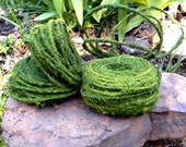 75 foot roll Faux Moss wire-Bendable moss wire -Faux Woodland forest vines