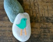 Story Stone - Green Bird