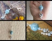 Blue Ceramic n Pearl Necklace