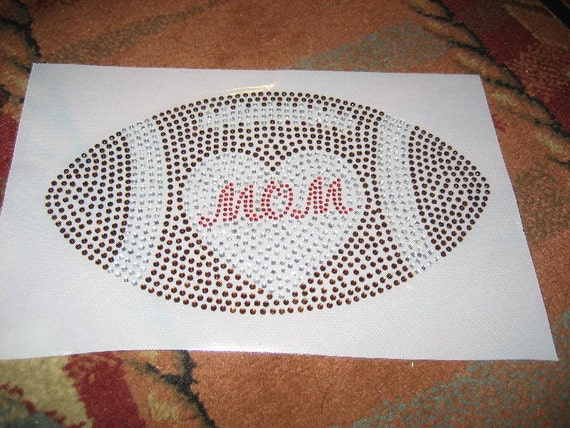 SALE  DIY Rhinestone Football Transfer for MOM