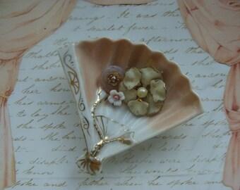 Lovely Antique Porcelain Victorian Fan