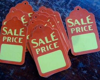 One Dozen Vintage Price tags