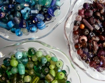 Vintage Glass Beads 60 pcs Mixed Lot