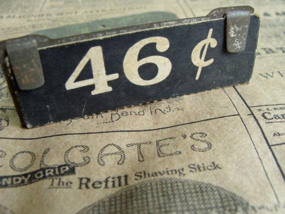 Antique Mercantile Industrial Price Display