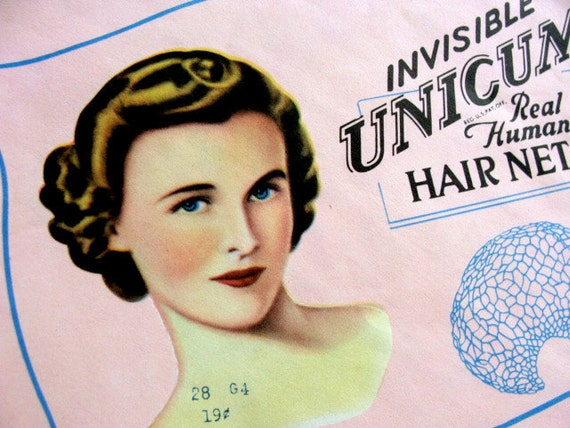 Antique Old /New Hair Net 1950 Mad Men