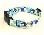 Dog Collar Blue Dots